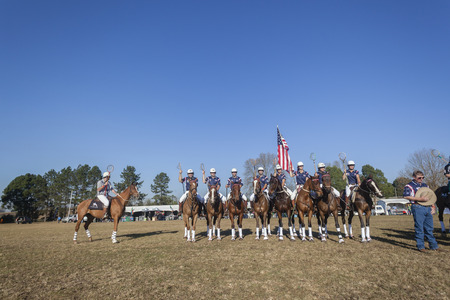 worldcup: Polocrosse sport world-cup USA  player riders  game parade at Shongweni equestrian fields Editorial
