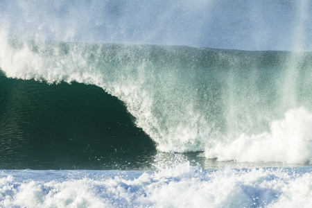 hollow walls: Ocean wave hollow crashing water power of nature.
