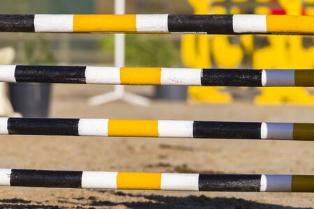 horse show: Equestrian Arena gate poles horse show jumping