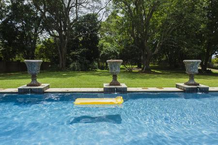 matt: Swimming pool yellow air matt li lo home summer landscape