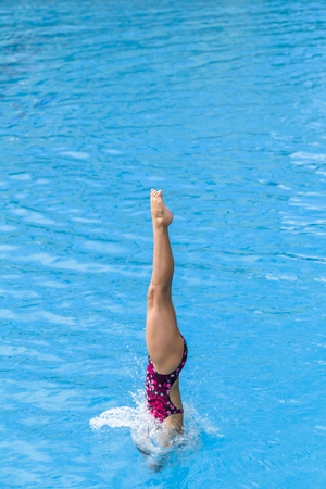 Aquatic Pool Diving girl diver water entry