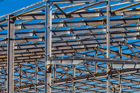 warehouse building: Steel Beams Building warehouse frame structure