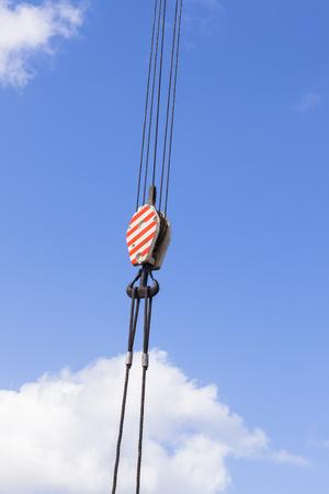 poleas: Cables de gancho de la gr�a aparejo de ingenier�a de maquinaria pesada