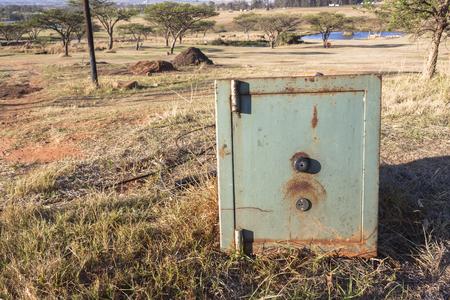 caja fuerte: Paisaje rural de cajas de seguridad al aire libre segura