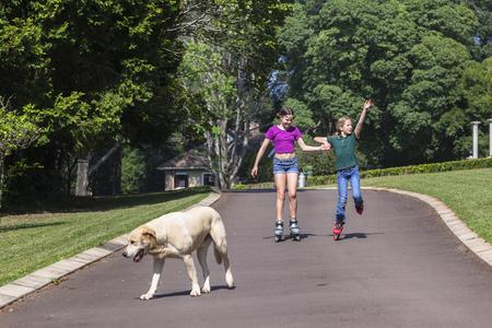 driveway: Girls home driveway skating holidays holidays fun.