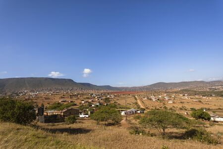 kz: Africa valley tribal family homes rural landscape