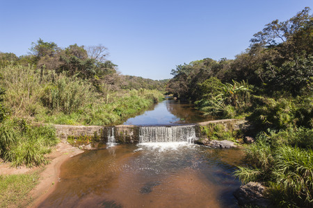 catchment: River small water overflow  wall catchment landscape