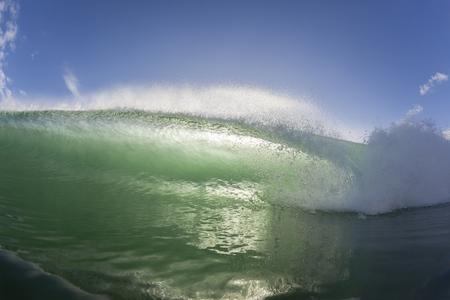 natures: Wave ocean swimming inside closeup water crashing breaking beauty of natures power.