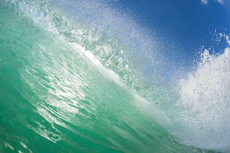 encounter: Wave ocean water swimming closeup encounter natures power beauty. Stock Photo