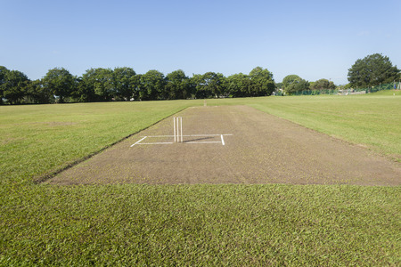 Cricket pitch wickets summer sports playing field