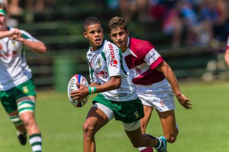 noord: HoerSkool Noord Kaap v Kearsney rugby festival high schools players teams photo action.