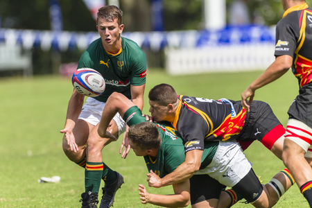 eg: Rugby player action EG Jansen v Glenwood at Kearsney rugby festival high schools.