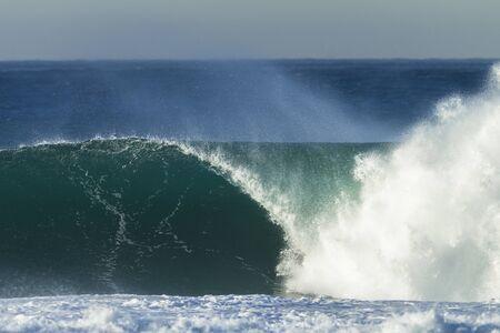 water power: Wave crashing ocean water power