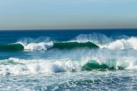 ocean waves: Ocean blue waves horizon Stock Photo