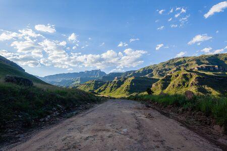 dirtroad: Mountains dirt road rugged route through scenic rural terrain.
