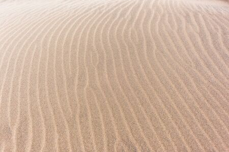 textures: Beach sand wind textures lines natures background. Stock Photo
