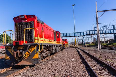 Trains locomotives diesel machines  railway tracks landscape.