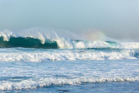 Waves swells crashing ocean water power.
