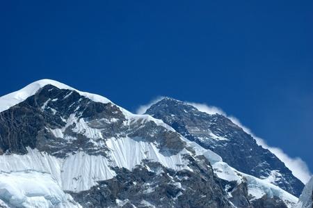 The summit of Mount Everest Banco de Imagens