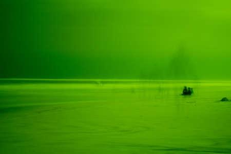 ghosts on Blue Mountain Beach Stock fotó
