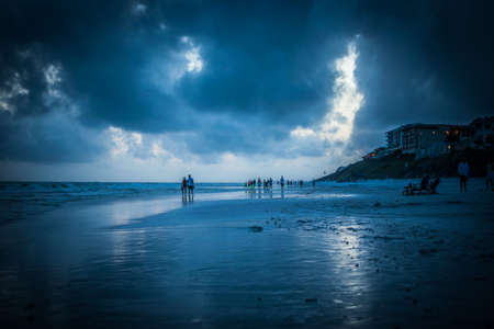 Blue on Blue Mountain Beach Stock fotó