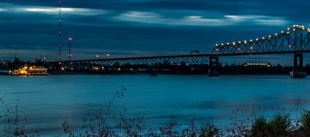 Mississippi River Bridge in Baton Rouge Stock Photo