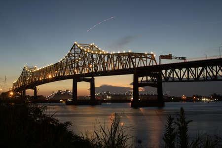 Mississippi River Bridge in Baton Rouge Editorial