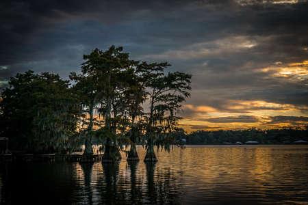 Lake Bruin sunset