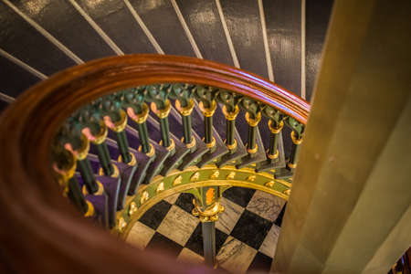 spiral staircase in Old Louisiana State Capitol