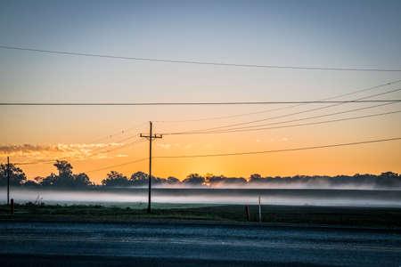 st  joseph: empty road at sunrise