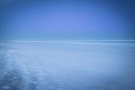 幽霊のようなブルー マウンテン ビーチ 写真素材