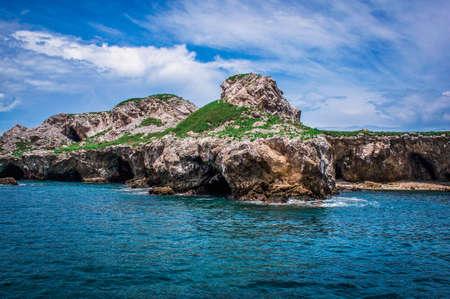 coastal island off Puerto Vallarta Stock Photo
