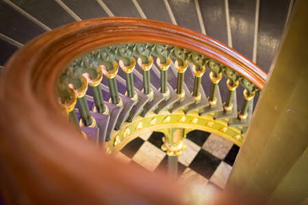 Old Louisiana State Capitol spiral staircase Editorial