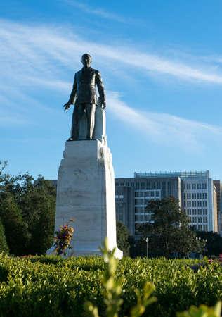 Huey P. Long statue in Baton Rouge