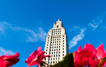 flowers at the Louisiana State Capitol