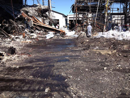 asbestos cleanup progress