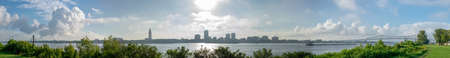 panoramic view of the city of Baton Rouge from across the Mississippi River