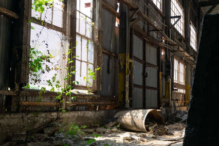 abandoned industrial site building