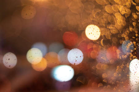 raindrop color bokeh Stockfoto
