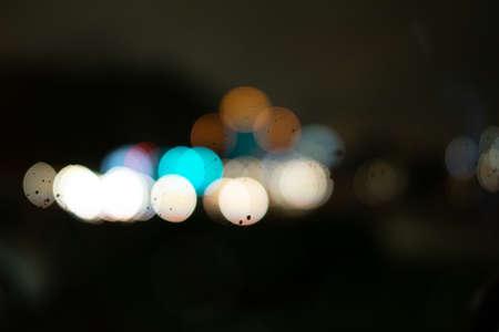 raindrop color bokeh Foto de archivo