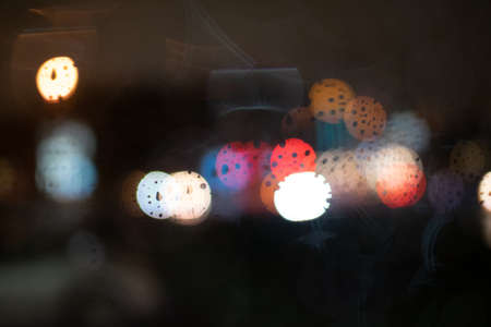 raindrop color bokeh 版權商用圖片