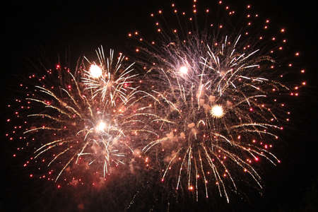 guy fawkes night: Guy Fawkes Night firework display  Stock Photo