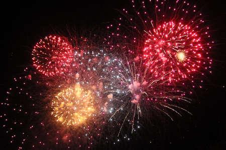 guy fawkes night: Guy Fawkes Night exhibici�n de fuegos artificiales Foto de archivo