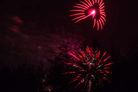 Bonfire night at Conkers in the National Forest Leicestershire.