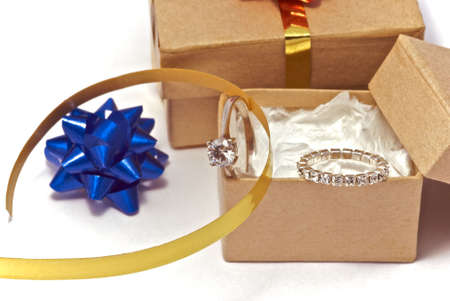 Jewellery in a box that has just been unwrapped. Stock Photo - 4558436
