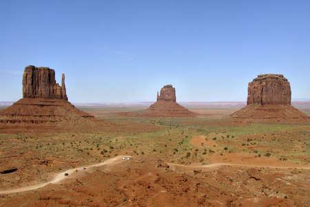 arizona landscape: Monument Valley, Arizona - landscape aspect Stock Photo