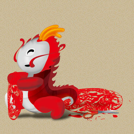 chinese zodiac - year of dragon Vector