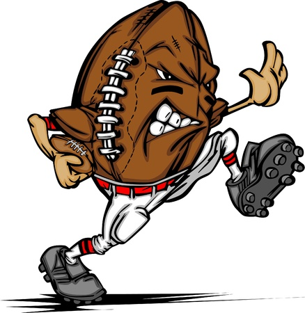 football american: American Football Ball Player Cartoon