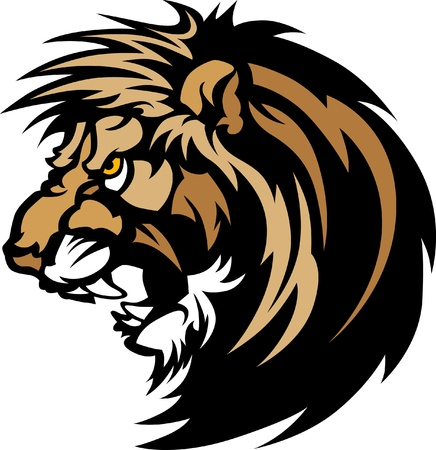 Lion Head mascotte grafico Logo Archivio Fotografico - 10242878