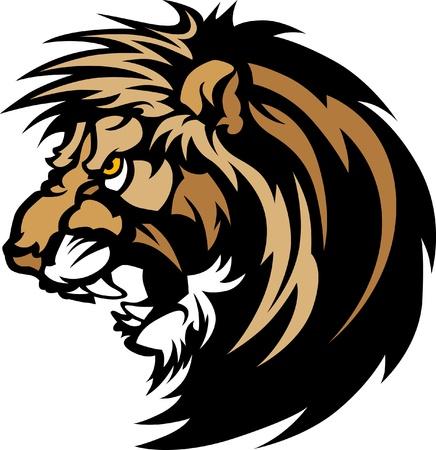 Logo de la mascotte graphique de tête de lion Banque d'images - 10242878